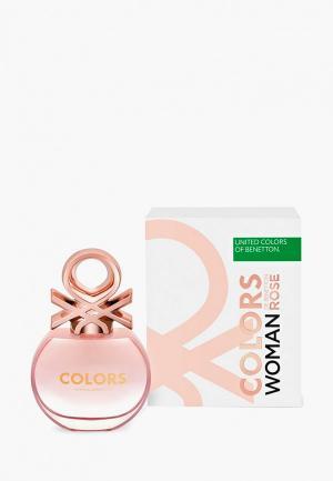 Туалетная вода United Colors of Benetton Rose 50 мл. Цвет: прозрачный