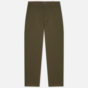 Мужские брюки Authentic Chino Loose Vans. Цвет: оливковый
