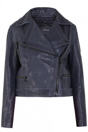 Кожаная куртка Proenza Schouler. Цвет: синий