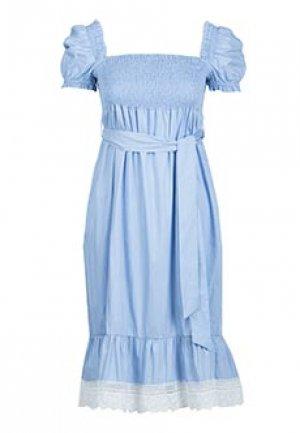 Платье HOLY CAFTAN. Цвет: голубой