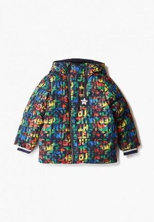 Куртка утепленная Junior Republic. Цвет: разноцветный