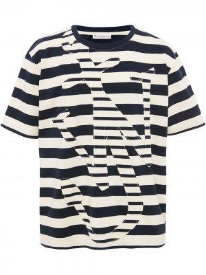 Полосатая футболка с логотипом Anchor JW Anderson. Цвет: белый