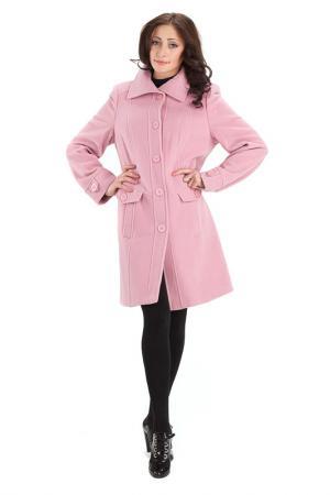 Пальто ELEGANT LADY. Цвет: розовый
