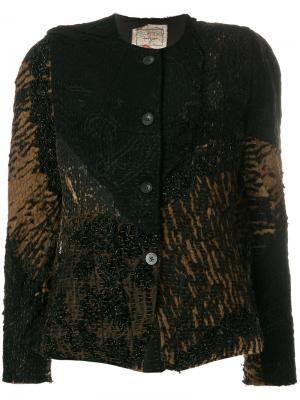 Куртка с вышивкой By Walid. Цвет: чёрный