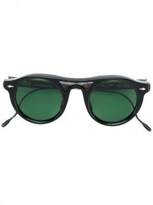 Солнцезащитные очки в круглой оправе Jacques Marie Mage. Цвет: черный