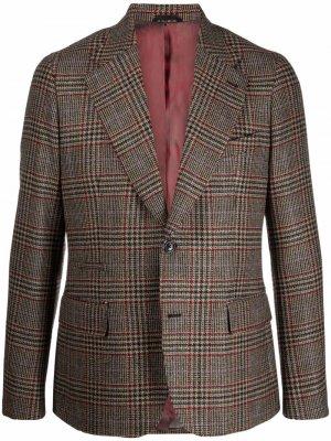 Однобортный пиджак в клетку Reveres 1949. Цвет: нейтральные цвета