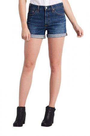 Шорты джинсовые 501 SHORT LONG Levis Levi's. Цвет: синий