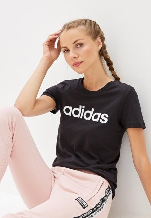 Футболка adidas W E LIN SLIM T. Цвет: черный