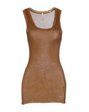 Майка WOOLRICH. Цвет: коричневый