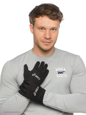 Перчатки ASICS GLOVE. Цвет: черный