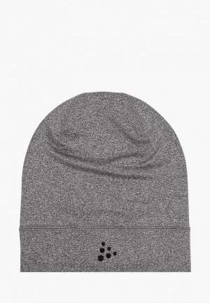 Шапка Craft CORE JERSEY HIGH HAT. Цвет: серый