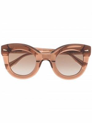 Солнцезащитные очки в круглой оправе GIGI STUDIOS. Цвет: нейтральные цвета