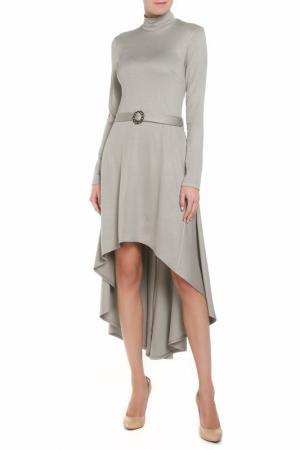 Платье со шлейфом Adzhedo. Цвет: серый