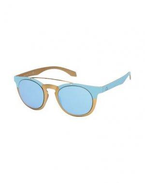 Солнечные очки ALSTECA. Цвет: небесно-голубой