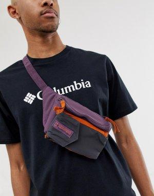Фиолетовая сумка-кошелек на пояс Popo Columbia. Цвет: фиолетовый