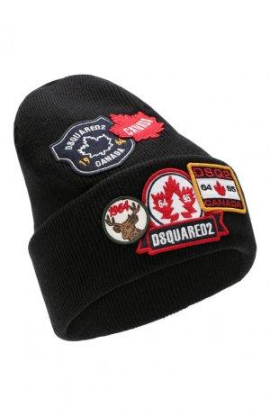 Шерстяная шапка Dsquared2. Цвет: черный