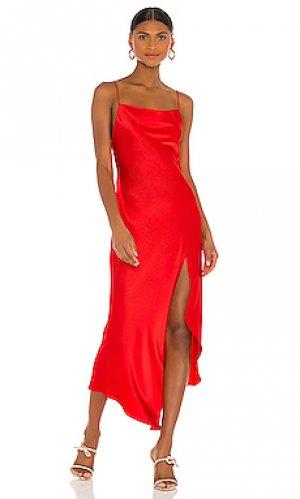 Платье harmony Alice + Olivia. Цвет: красный