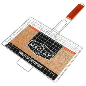 Решетка гриль для мяса и овощей 30 х 22 3 см premium, средняя Maclay