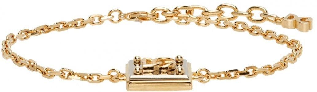 Gold & Silver Logo Pendant Bracelet Dolce Gabbana. Цвет: 87562 bicolore