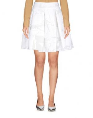 Мини-юбка ANTONIO BERARDI. Цвет: белый