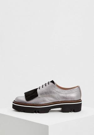 Ботинки Pollini. Цвет: серебряный