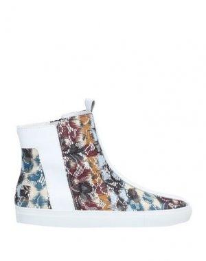 Высокие кеды и кроссовки ALBERTO FERMANI. Цвет: белый