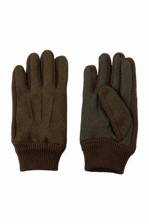Перчатки мужские Finn-Flare. Цвет: темно-зеленый