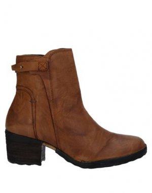 Полусапоги и высокие ботинки KHRIO'. Цвет: желто-коричневый