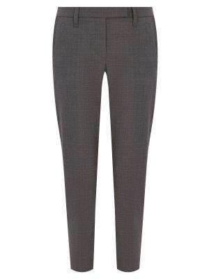 Укороченные брюки из шерсти BRUNELLO CUCINELLI