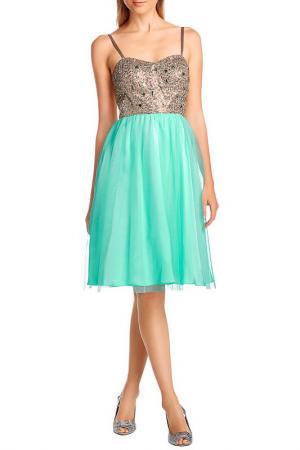 Платье Apart. Цвет: золотистый, ментоловый