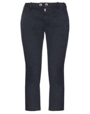 Джинсовые брюки-капри MET JEANS. Цвет: темно-синий