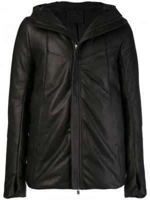 Куртка с капюшоном и прорезями для больших пальцев на рукавах 10Sei0otto. Цвет: черный