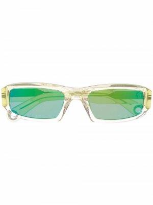 Square frame sunglasses Jacquemus. Цвет: зеленый