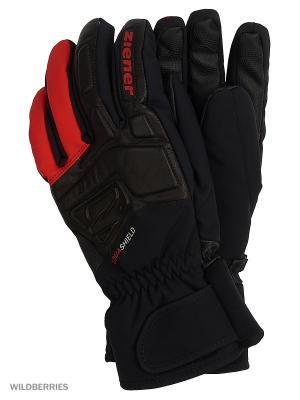 Перчатки Ziener. Цвет: черный, красный