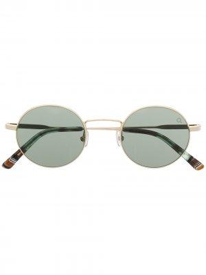 Солнцезащитные очки Lapa в круглой оправе Etnia Barcelona. Цвет: золотистый