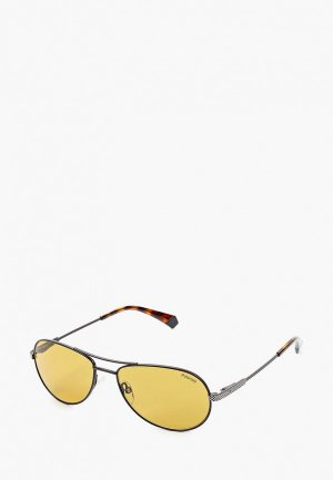 Очки солнцезащитные Polaroid PLD 2100/S/X YZ4. Цвет: серый