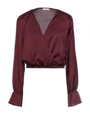 Блузка H2O ITALIA. Цвет: красно-коричневый