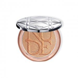 Пудра-хайлайтер skin Nude Luminizer, 04 Бронзовое сияние Dior. Цвет: бесцветный