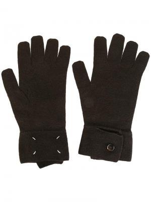 Классические перчатки Maison Margiela. Цвет: коричневый