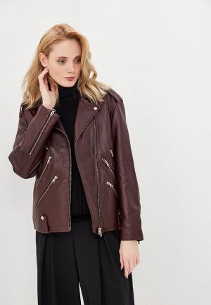 Куртка кожаная McQ Alexander McQueen. Цвет: коричневый