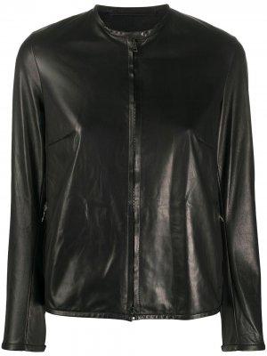 Куртка без воротника на молнии Salvatore Santoro. Цвет: черный
