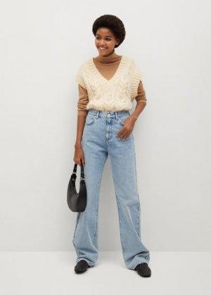 Прямые джинсы с завышенной талией - Urban Mango. Цвет: синий средний