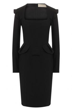 Приталенное платье-футляр Elie Saab. Цвет: черный
