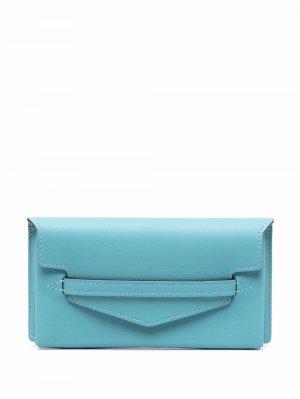 Футляр для очков 2010-х годов с клапаном Hermès. Цвет: синий
