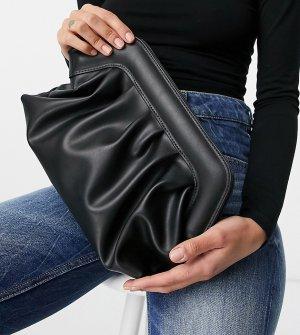 Эксклюзивный свободный стеганый клатч-подушка черного цвета с мягким каркасом -Черный цвет Glamorous