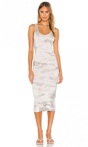 Платье Enza Costa. Цвет: серый