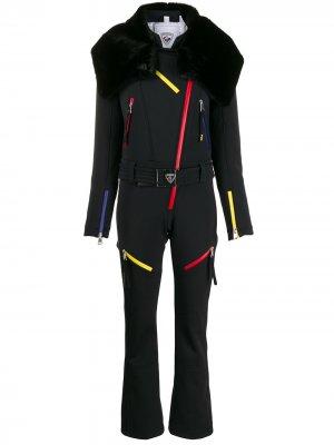 Лыжный костюм с искусственным мехом Rossignol. Цвет: черный