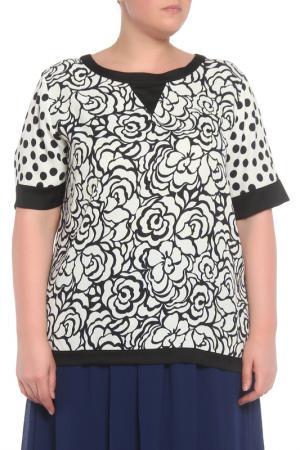 Блузка Anna Rachele. Цвет: черный,белый