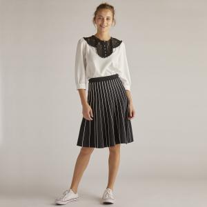 Блузка с круглым вырезом и длинными рукавами DERHY. Цвет: экрю