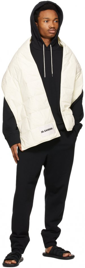 Off-White Down Quilted Scarf Jil Sander. Цвет: 104 - ivory